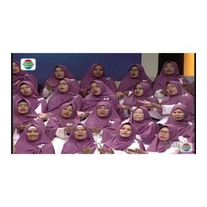 Alhamdulillah Hijab desian Custom SG jilbab Bisa Masuk TV he he he..