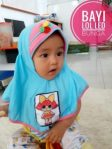 Jilbab Bayi LOL LED Bunga
