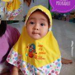 Jilbab Bayi Serut Polkadot