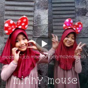 Grosil Jilbab AnakMinny Mouse LED