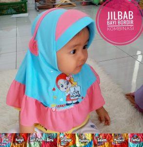 Jilbab Bayi Bordir Kombinasi