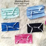 Masker Kain Karet NON Hijab, Ear Loop.