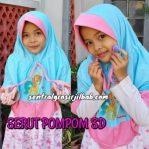 Jilbab Anak Serut POMPOM SD