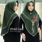 Hijab Oval Lis