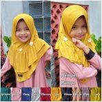 Hijab Rempel Bunga Anak.