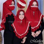 Hijab Viola Renda Masker.