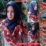 Satin Azara Bunga SG Jilbab