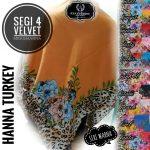 Segiempat Velvet Hanna Turkey 25 28 35 440 SG Jilbab