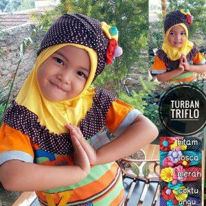 Jilbab Anak Turban Triflow