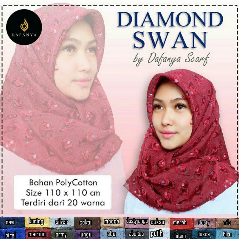 Diamond Swan 49 52 65 890 by Dafanya SG Jilbab