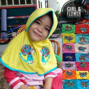 Jilbab Anak Girl & Flower TK
