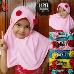 Jilbab Anak Lipit Tali Bunga