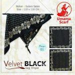Velvet Black 27 30 40 490 SG Jilbab by Umama 01