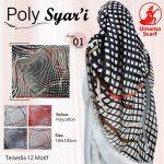 Segiempat Poly Syar'i Motif 35 38 50 650 by Umama Scarf SG Jilbab Design 01