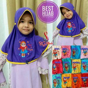Jilbab Anak Tali Bordir Happy TK