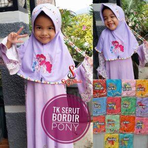 Jilbab Anak Tali TK Serut Pony