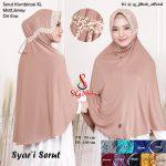 Jilbab Serut Kombinasi XL