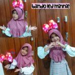 Jilbab Anak Minny Mouse LED