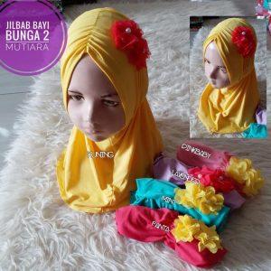 Jilbab Bayi Bunga 2 Mutiara