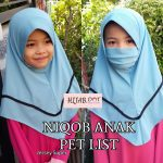 Niqob Anak Pet List S, M, L. Klik Video.