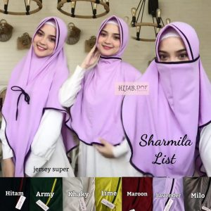Niqob Sharmilla List Hijab DOT (Detail KLIK Video)