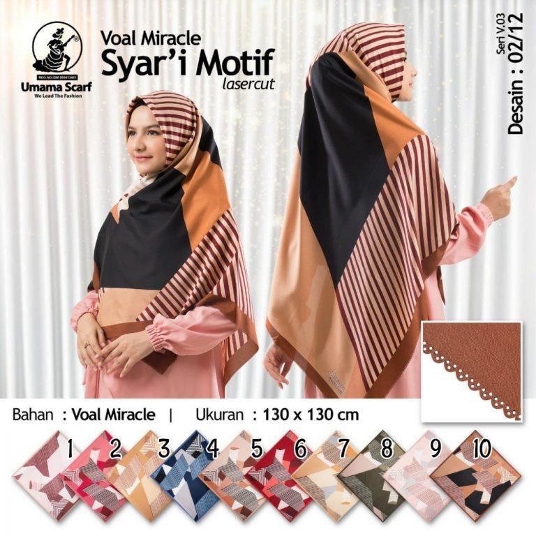 voal miracle syar'i motif 2 - sentral grosir jilbab i