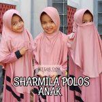 Hijab Sharmilla Plain Anak (KLIK Video).