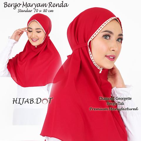 Bergo Maryam Renda Standar Merah 1ab Sentral Grosir Jilbab I Produsen Jilbab I Grosir Jilbab Terbaru I Grosir Jilbab Model Terbaru I Grosir Hijab Instan I Grosir Hijab Segiempat Pashmina